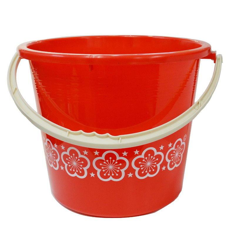 超大印花水桶AB04儲水桶19L手提桶 置物桶 分類桶 塑膠桶 圓形收納桶(限宅)【GD142】