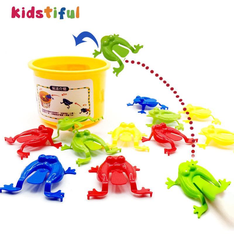 桌遊彈跳玩具青蛙跳桶寶寶創意有趣益智親子娛樂互動派對玩具兒童禮物