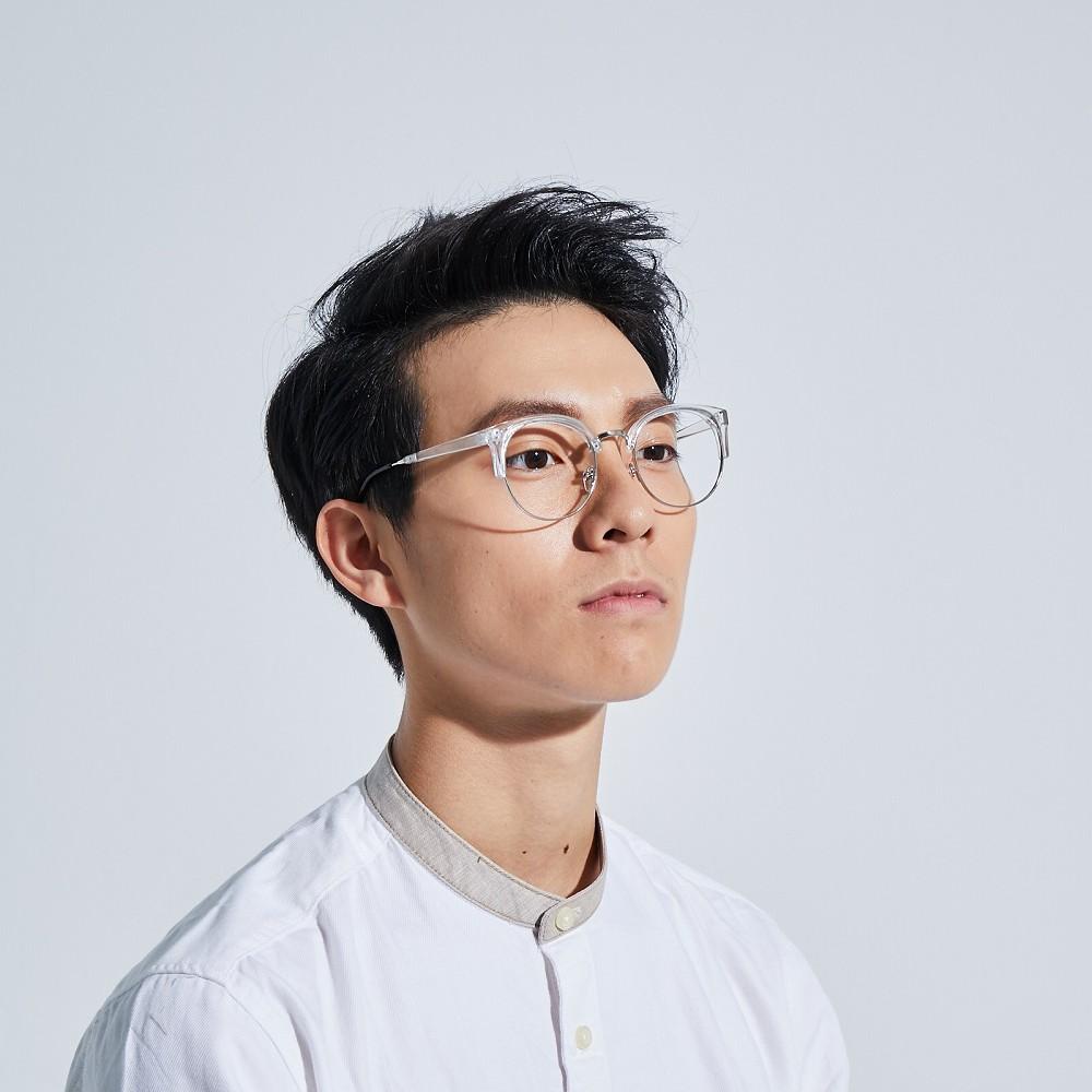 POPURE|復古圓弧半框眼鏡 / 2色【無鏡片】