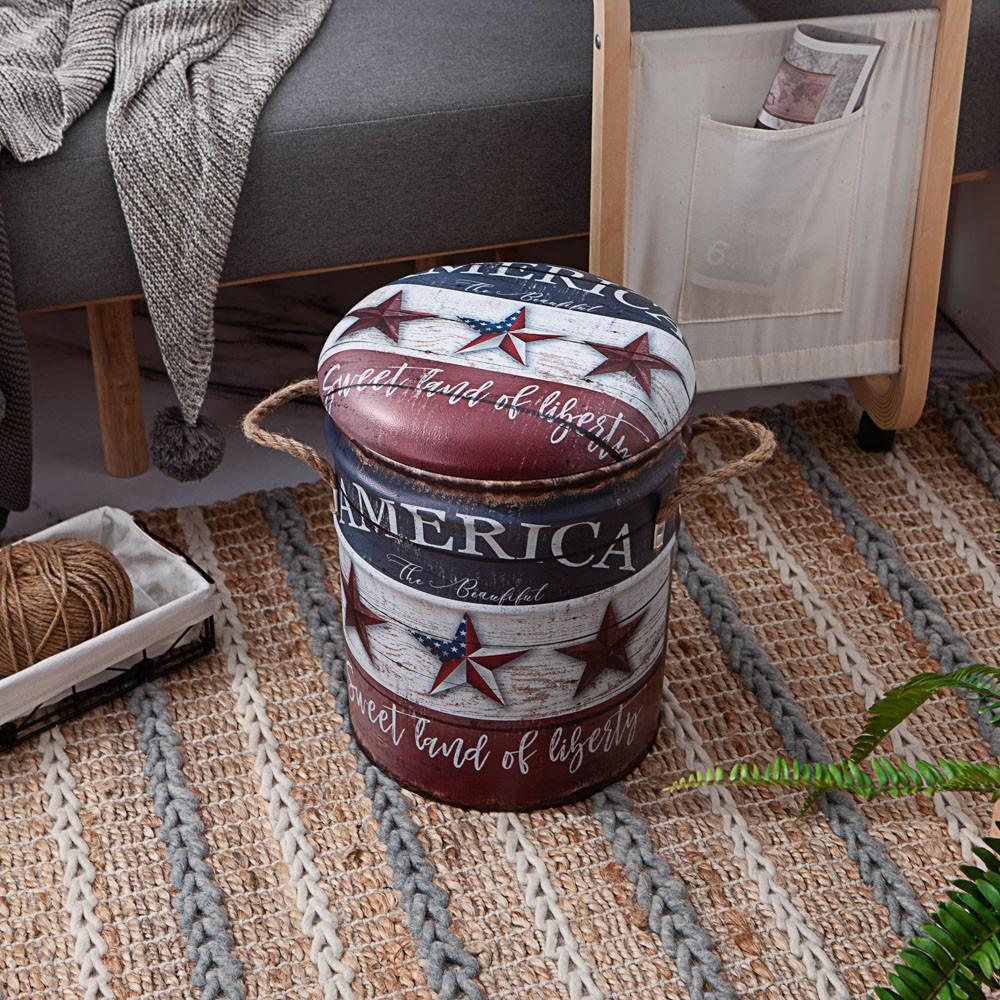 【生活工場】美式風格鐵桶收納椅-America