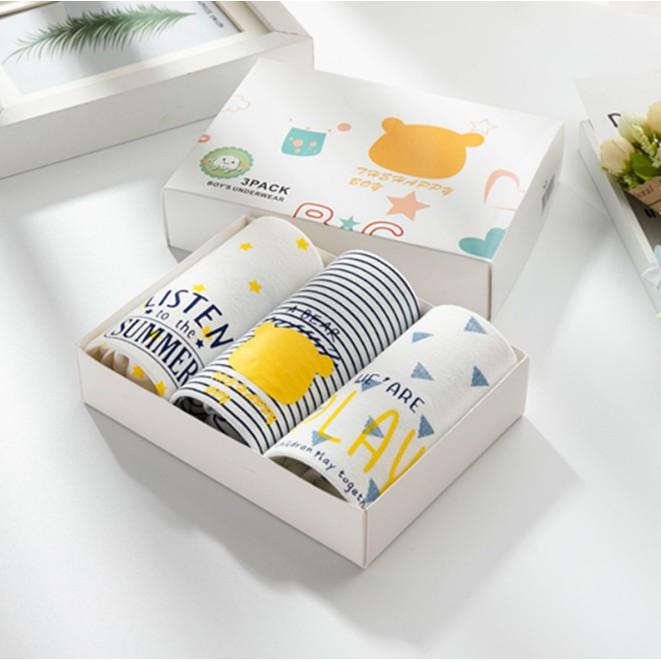 母嬰 男童爆款韓版韓版兒童高檔盒裝三條裝男童卡通夏季新款平角內褲 卡通三角內褲母婴