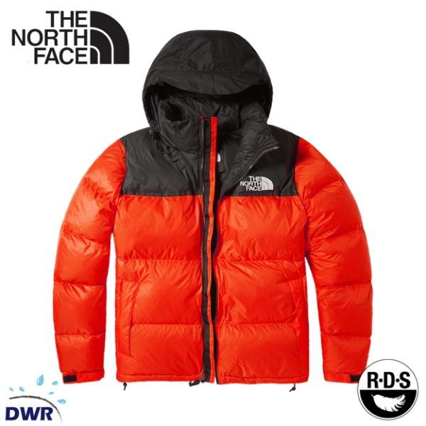 【The North Face 男 ICON 700FP 防潑水鵝絨保暖外套《橘/黑》】3C8D/保暖外套/休/悠遊山水