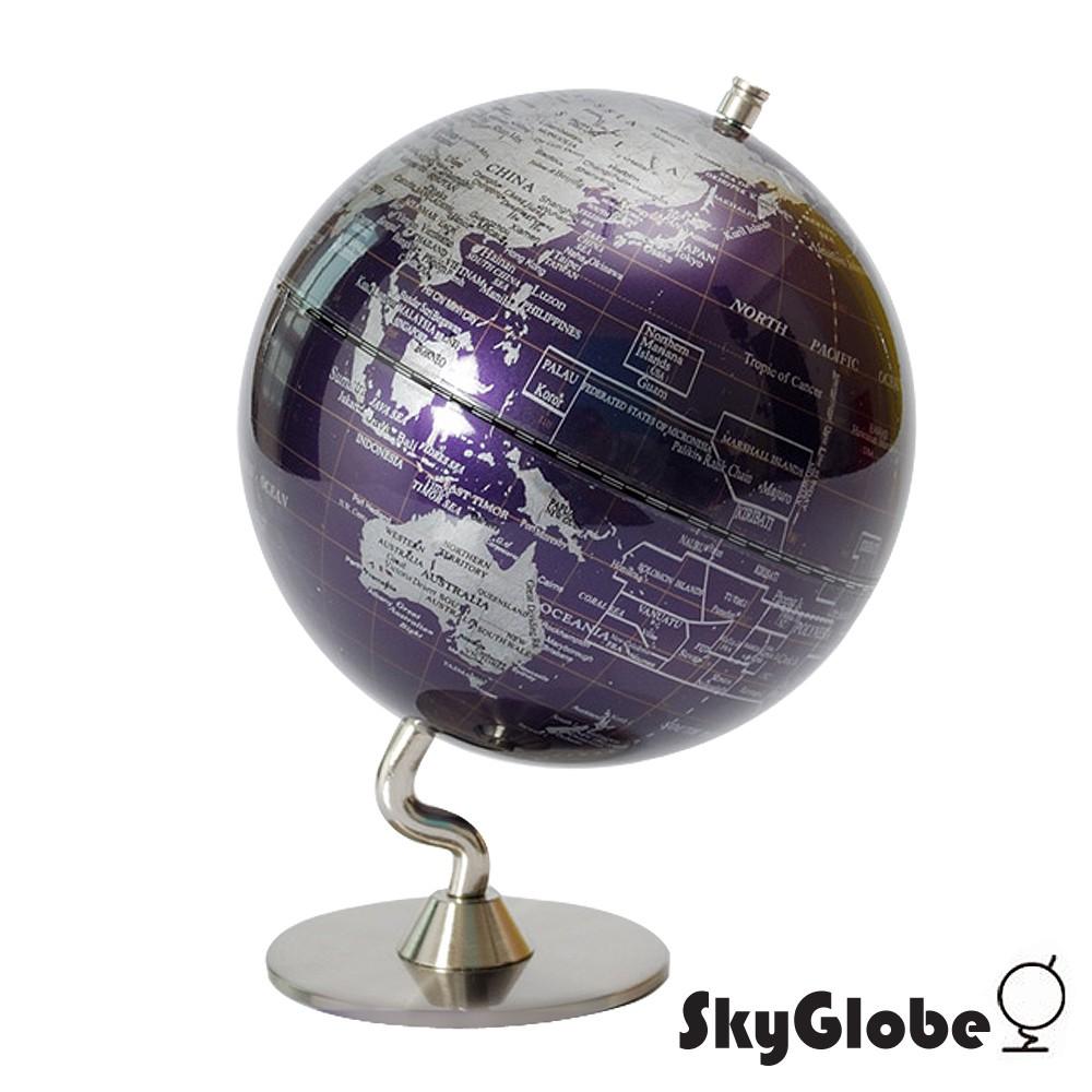 【SkyGlobe】5吋深紫色金屬底座地球儀(英文版)《泡泡生活》