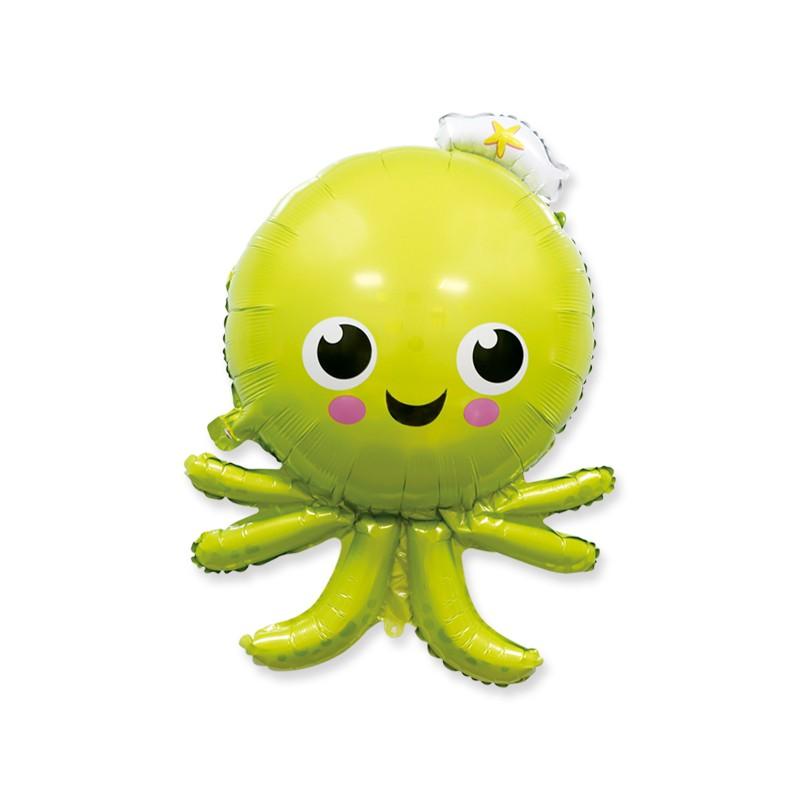珠友 派對佈置-鋁箔章魚氣球汽球/海洋歡樂場景裝飾/會場佈置 (DE-03181)