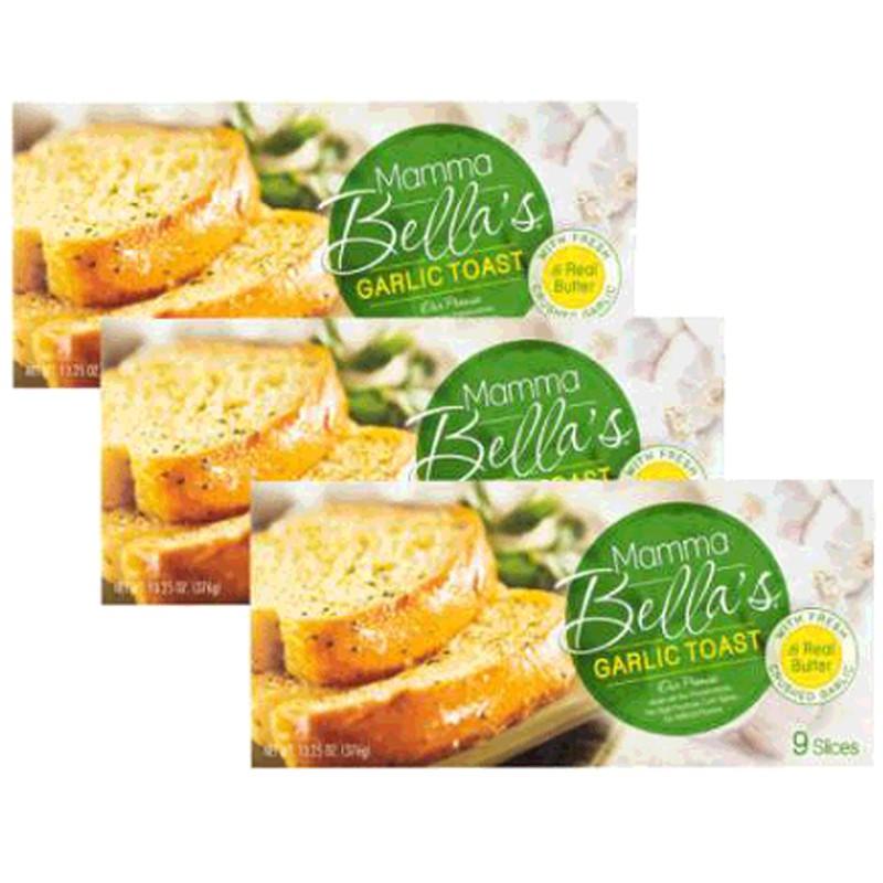 W71978 Mamma Bella 冷凍蒜味麵包 376公克 X 3盒 2入
