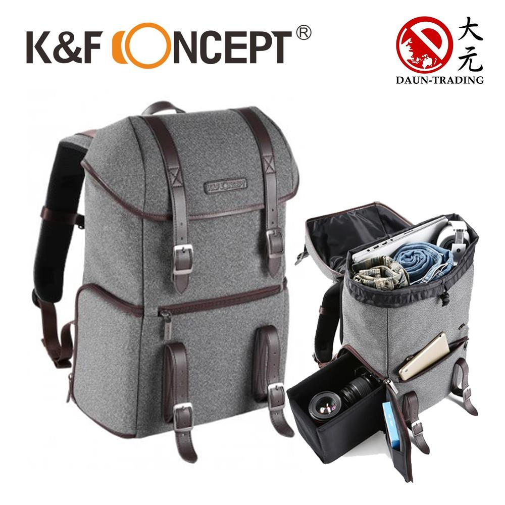 K&F Concept 休閒款 專業攝影單眼相機後背包 相機包 背包 KF13.080【免運】