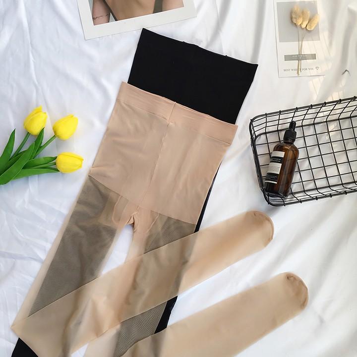 現貨實拍 新款韓版長筒絲襪女氣質百搭薄款防勾絲超薄隱形透明性感連褲襪黑肉色大碼水晶絲襪