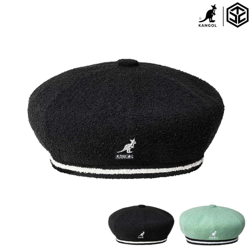 KANGOL 2-TONE BERMUDA 貝蕾帽 毛巾布 黑/果綠 袋鼠帽 熱銷款 百搭帽款【TCC】