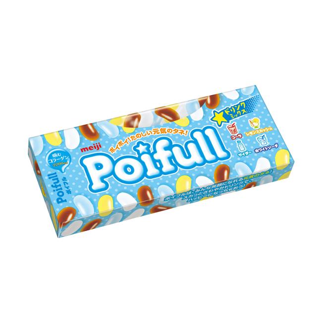 明治 Poifull 軟糖汽水口味 53g【大潤發】