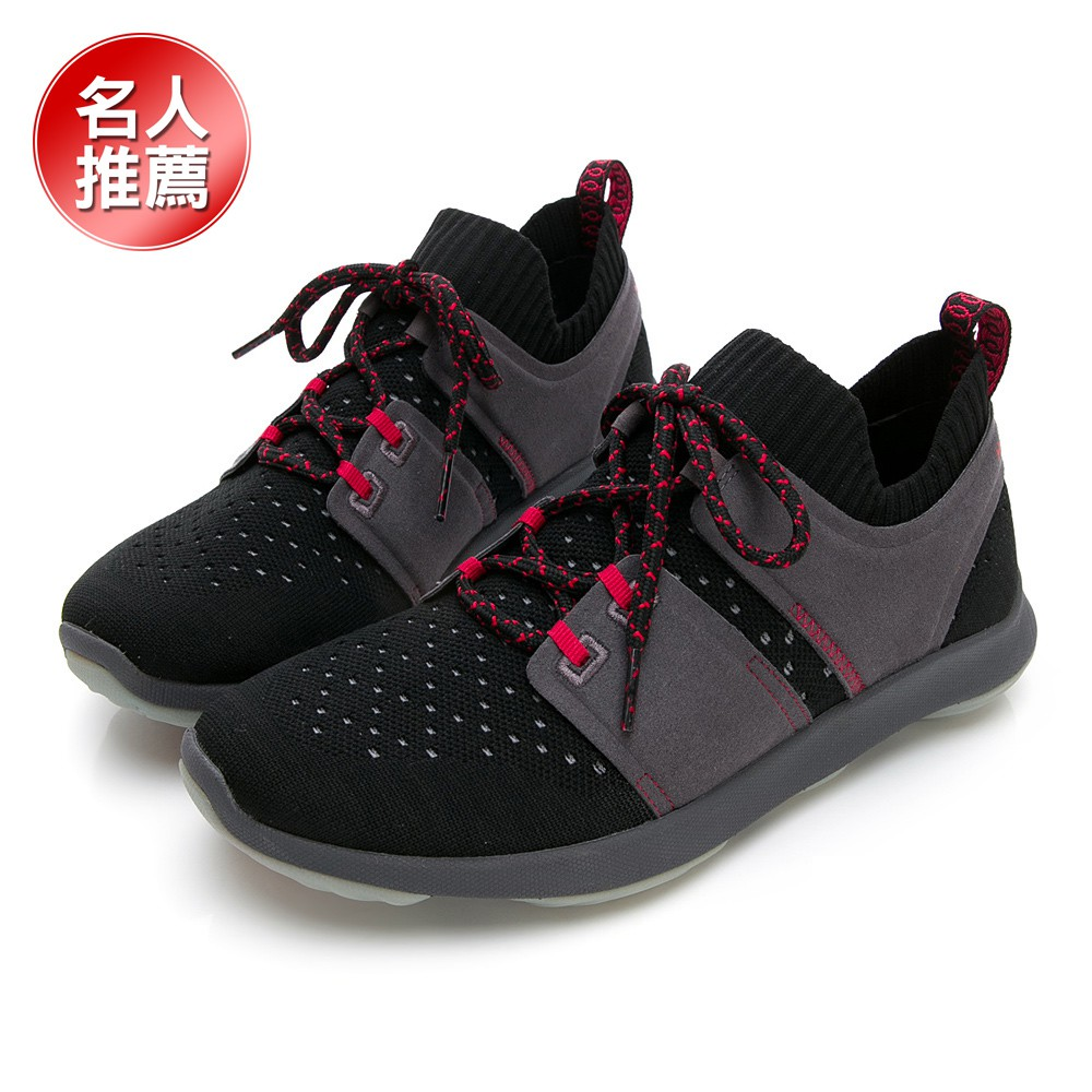 【Hush Puppies】女 / BOUNCE MAX 高效彈力休閒鞋-1191-1111 灰黑 / 原價3980元