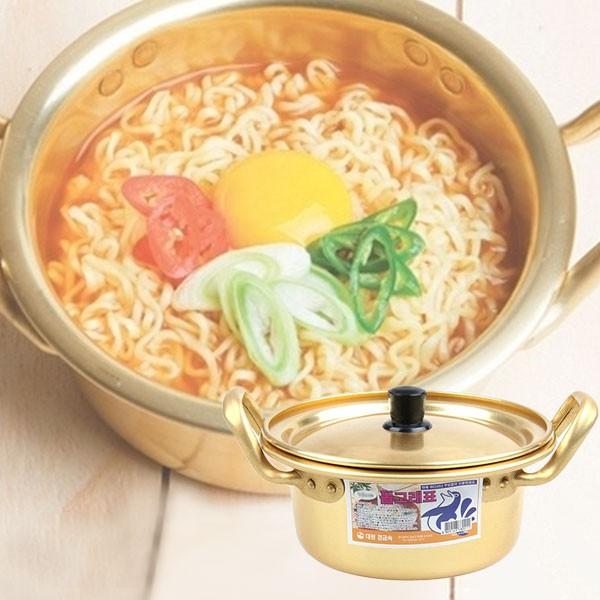 韓國 金色鋁製 單人泡麵鍋 16cm
