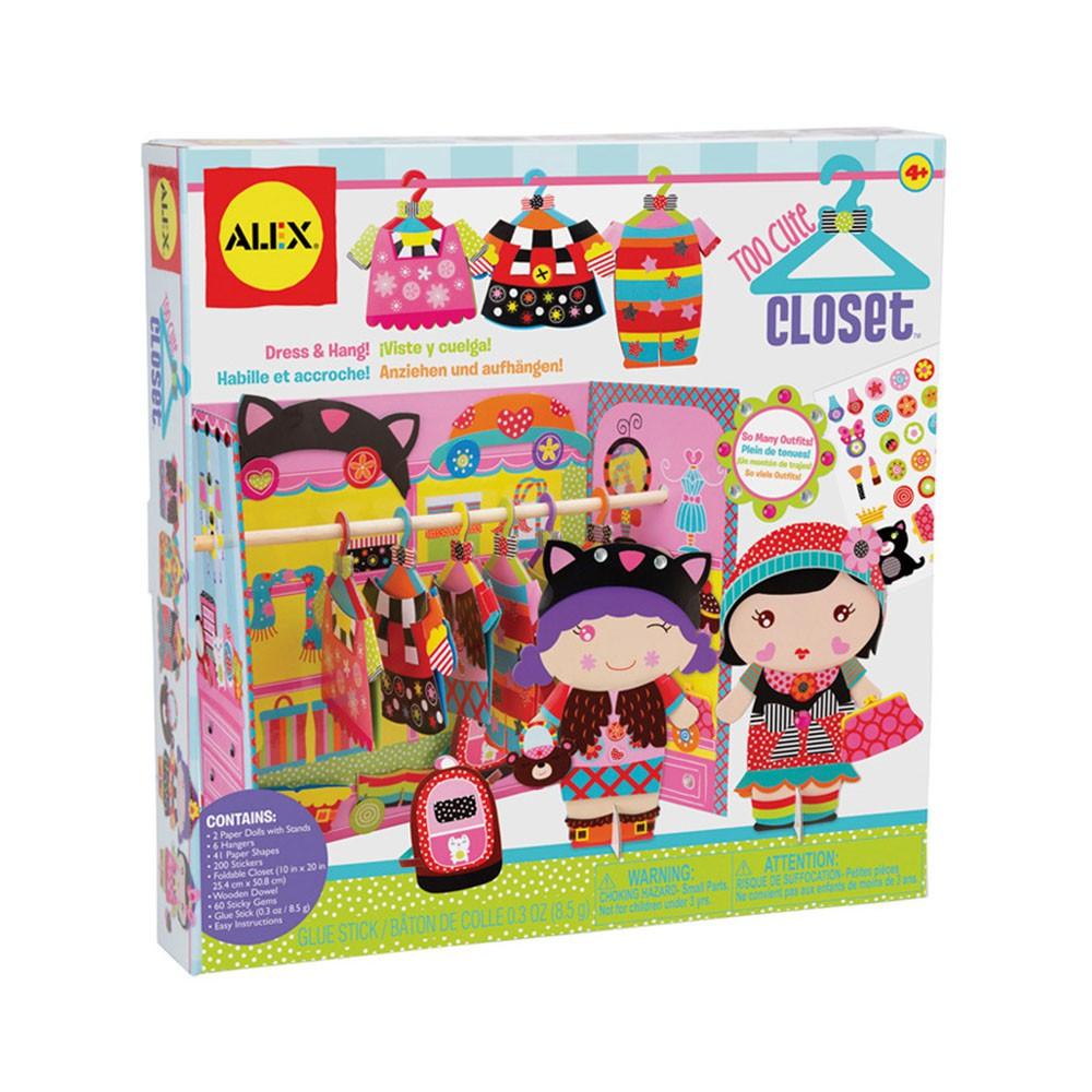【美國ALEX】娃娃家衣櫥 紙娃娃 扮家家(盒損)(LAVIDA官方直營)