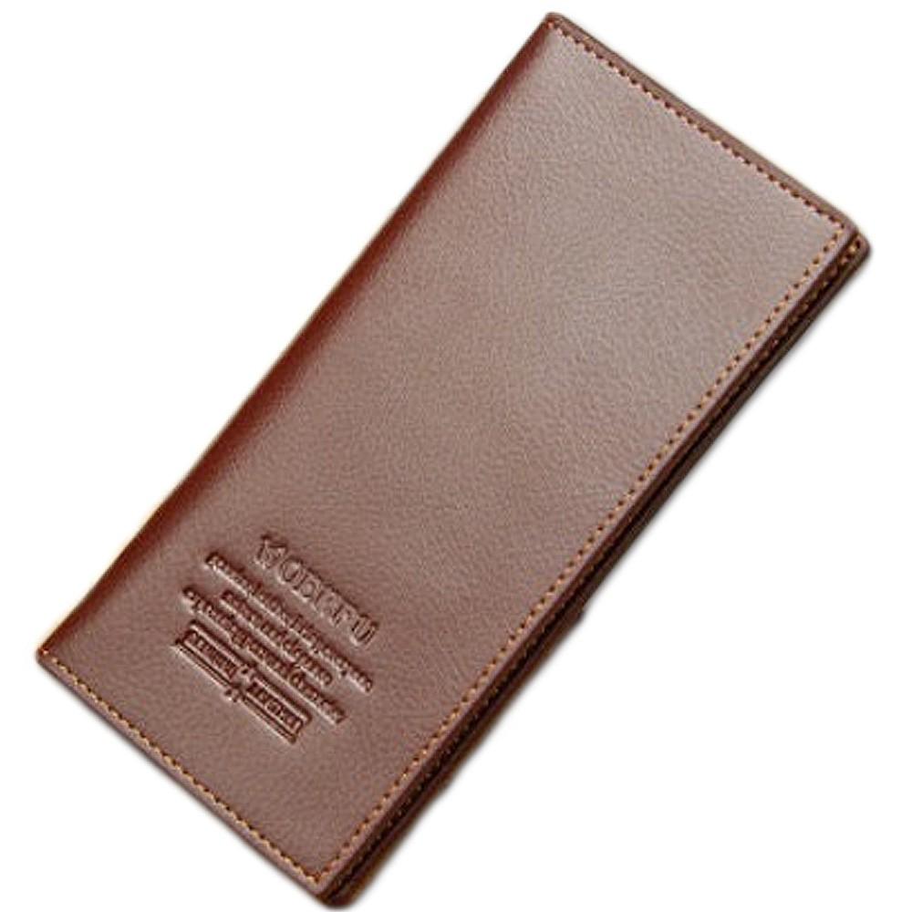 極簡軟皮質感超薄西裝夾男士皮夾男用長夾中夾卡片包名片夾輕薄【B410】