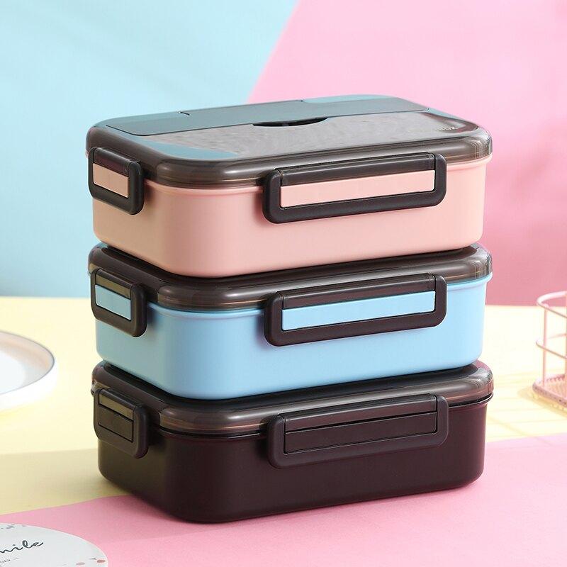 304不銹鋼保溫飯盒上班族1人便攜便當盒分格隔型帶蓋學生日式餐盒
