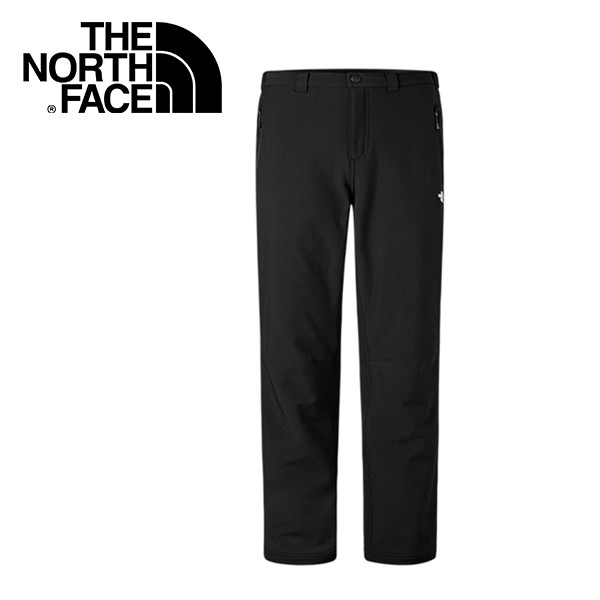 【The North Face 美國 男款 防潑保暖長褲《黑》】CNK4/防風/抓絨/寬鬆褲管/悠遊山水