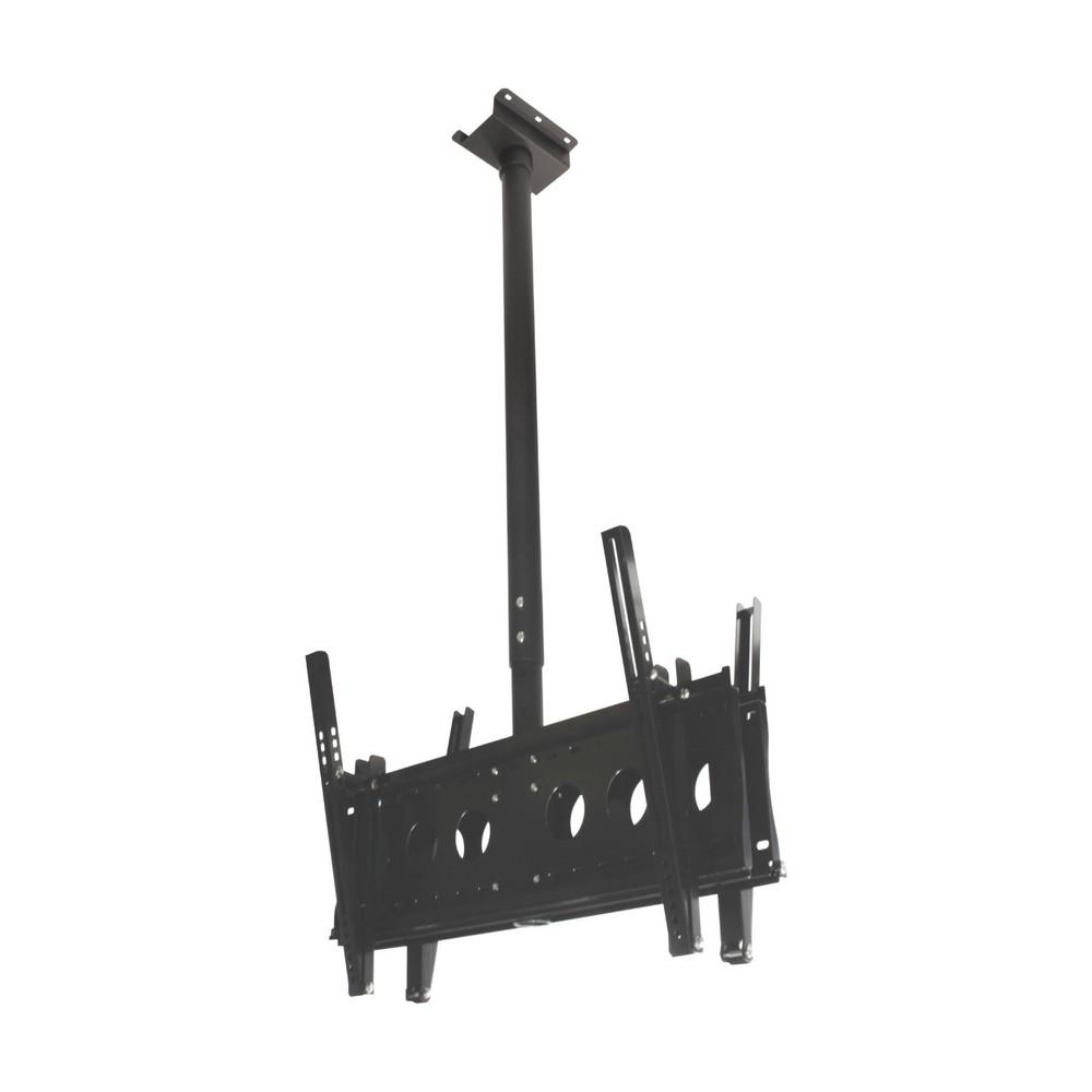 【HE】LED雙螢幕懸吊架.電視架 (H6540D)-適用37~85吋LED