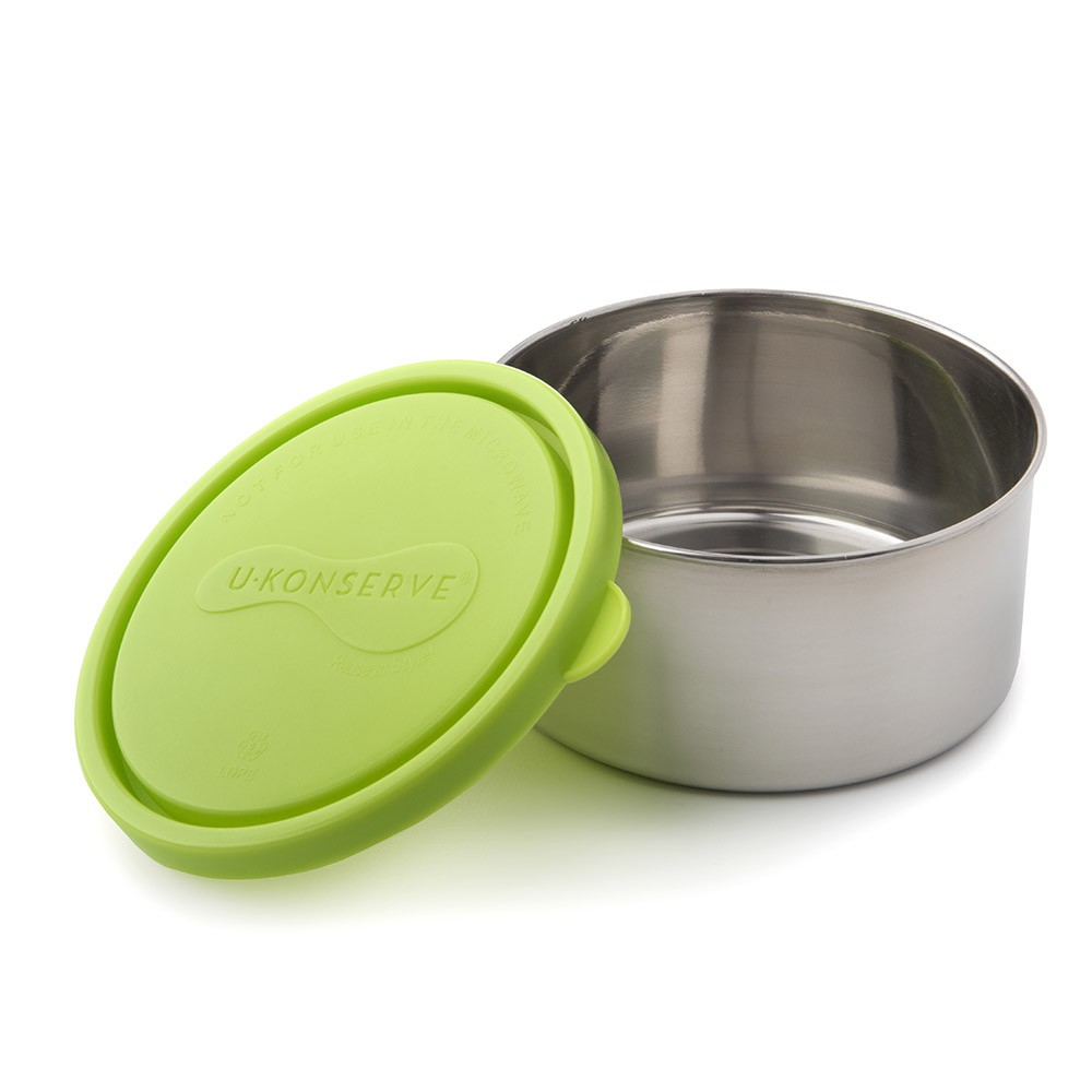 美國 U Konserve圓形不鏽鋼點心盒 (大) 清新草綠