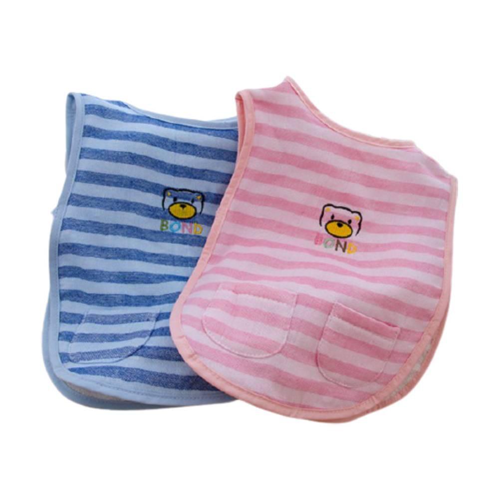 【台灣興隆毛巾】胖的熊紗布圍兜 單入