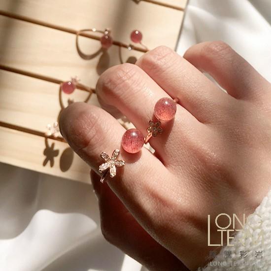 【龍騰彩岩】網美限定 純銀 草莓晶 戒指 氣場好起來 好運一直來 又美又健康 百搭聖品 美美的 好人緣 LT7119