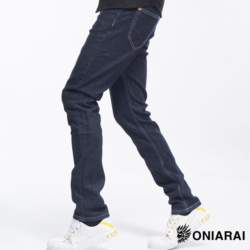 BLUE WAY 鬼洗 ONIARAI- 鍛造丹寧系列x鬼洗耐磨鍛造窄直筒褲(原生藍)