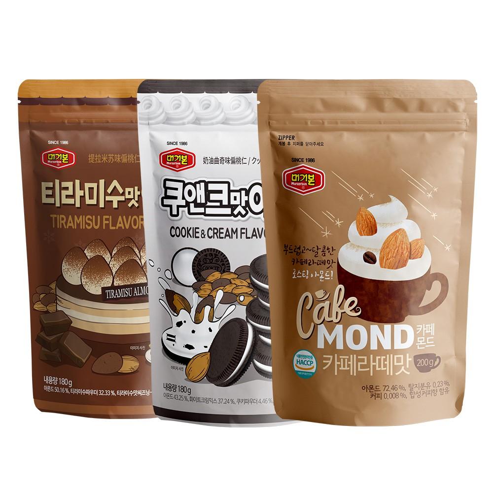 免運費!韓國正宗 Murgerbon 杏仁果 分享包 大包裝 團購零食 熱銷第一 多種口味