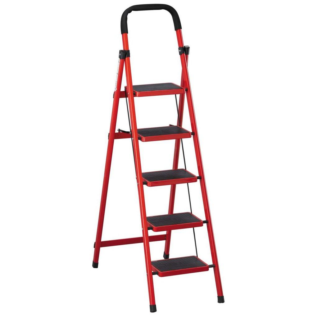 【SA415-8】 烤漆五層步梯(紅/黑)