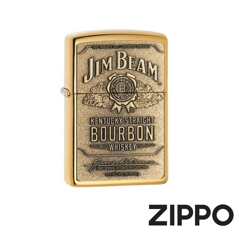 ZIPPO 金賓威士忌系列-經典徽章(金)防風打火機 美國設計 254BJB.929