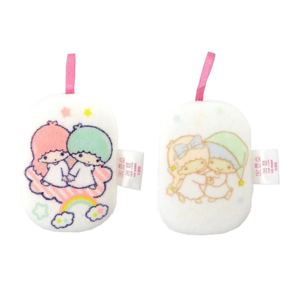 【Sanrio三麗鷗】雙子星沐浴澡棉-共2款 8x11.5cm 台灣製