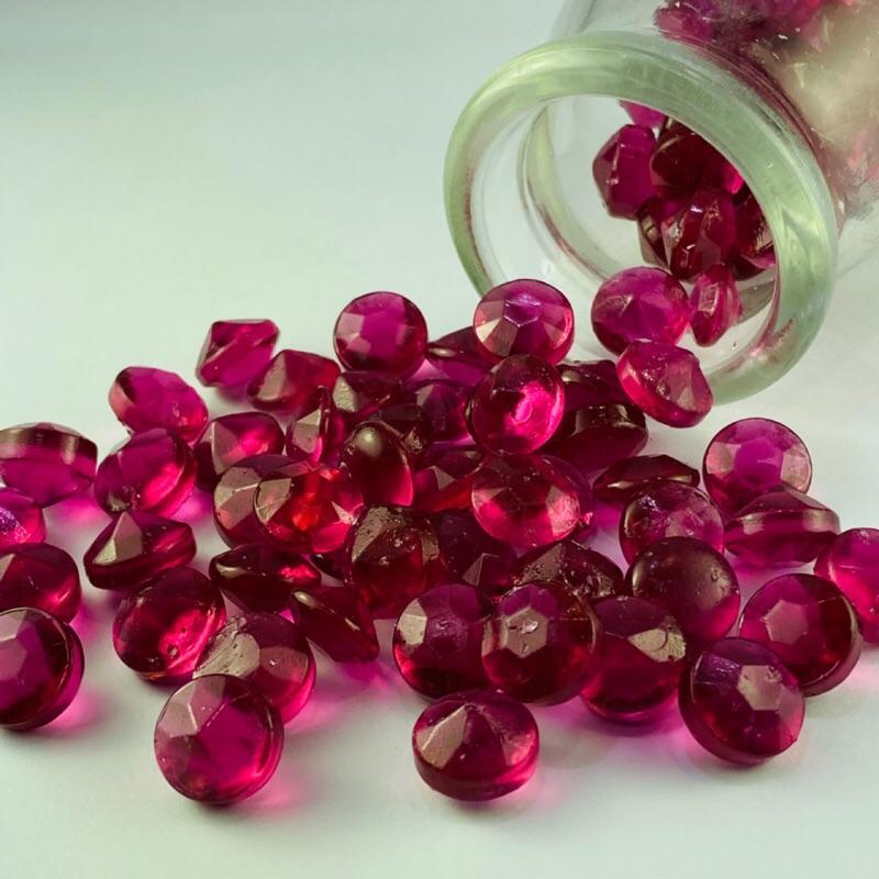 嘗甜頭 附發票 鑽石糖 100公克 紫紅寶石糖 紫寶石糖 葡萄口味 水晶糖 造型水果糖 婚禮小物 甜點裝飾