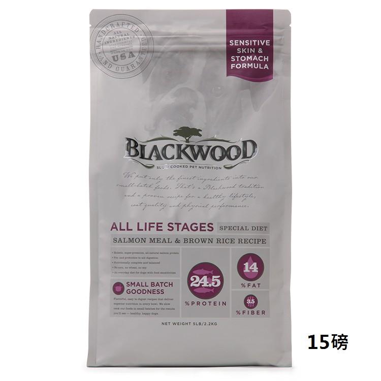 美國柏萊富天然犬糧44015-功能性全齡【腸胃保健(鮭魚+米) 15磅】WDJ 2013推薦