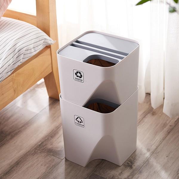 馬卡龍拼接垃圾桶 超省空間