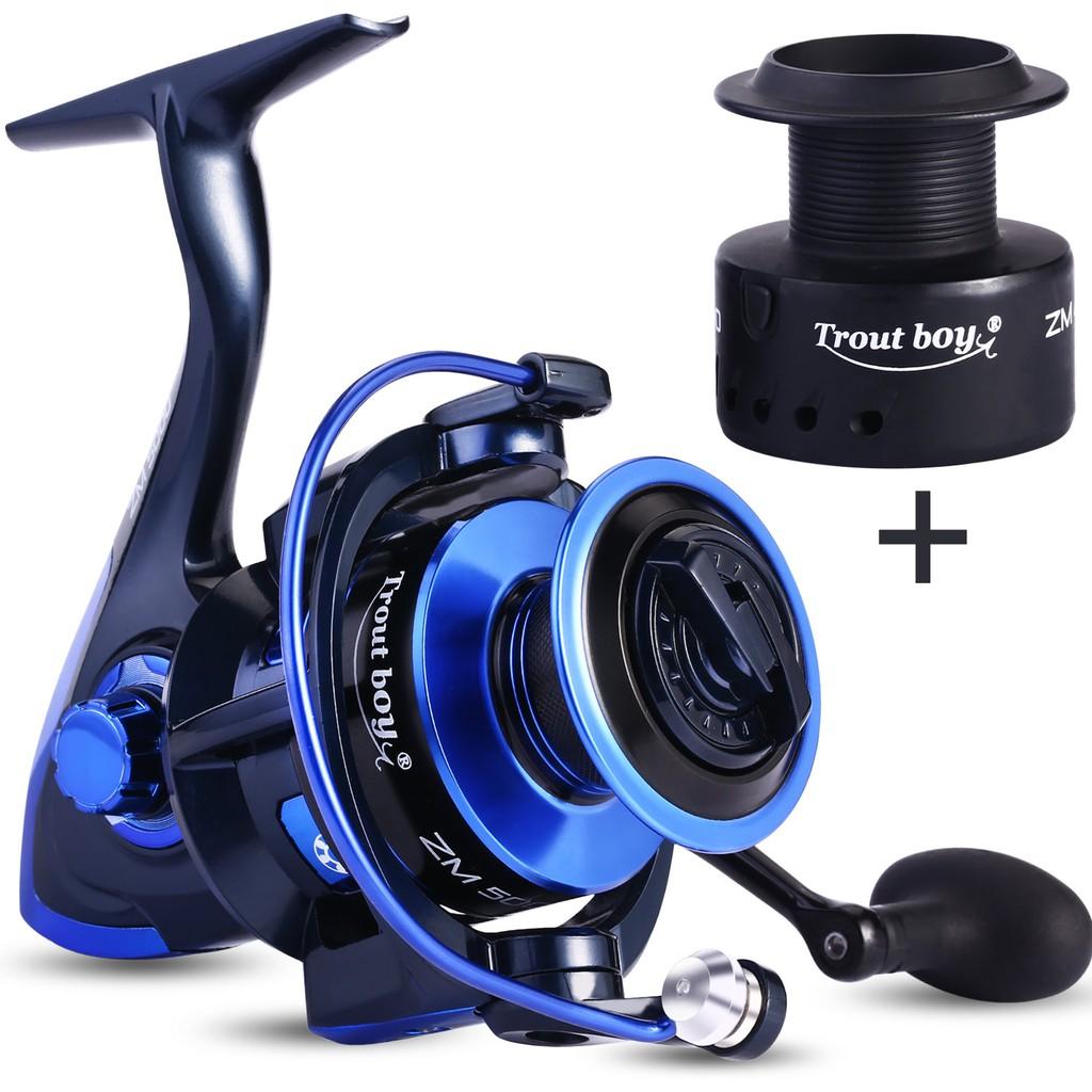 Sougayilang 13+1BB金屬漁輪 捲線器 紡車輪 5.0:1傳動比漁輪 左右手可互換漁輪 海釣 釣魚 熱銷