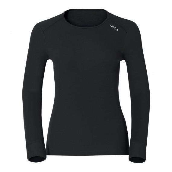 【ODLO 瑞士】女款 銀離子機能保暖排汗內衣 152021-15000黑色  彈性吸濕排汗透氣快乾/禦寒/野雁戶外