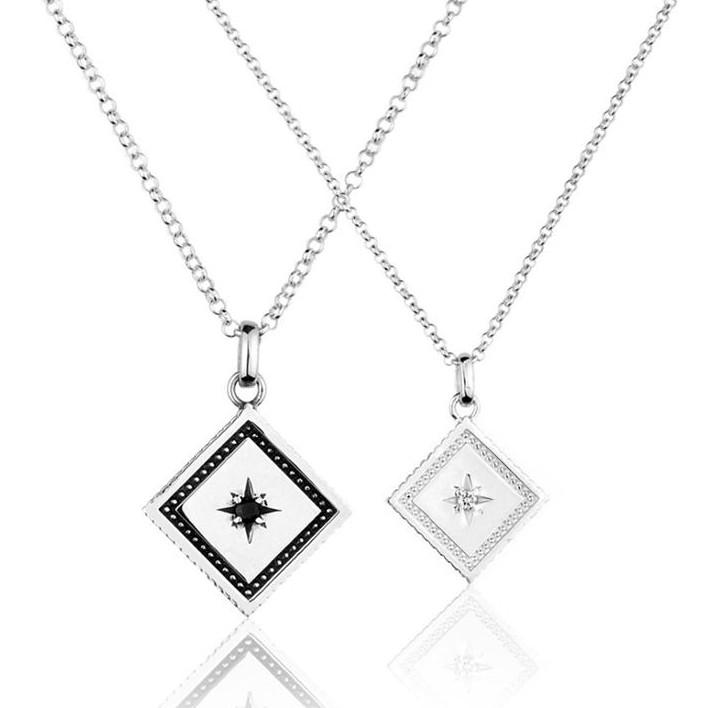 【JK銀飾】永恆閃耀的愛/925純銀【項鍊、情侶銀飾】