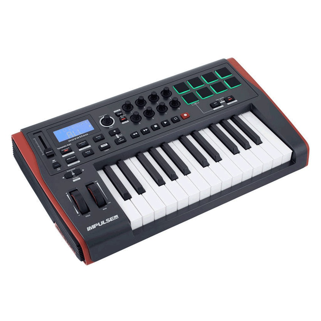 Novation Impulse 25鍵 USB/MIDI專業控制鍵盤 主控鍵盤 MIDI 鍵盤 控制器【全館折300】