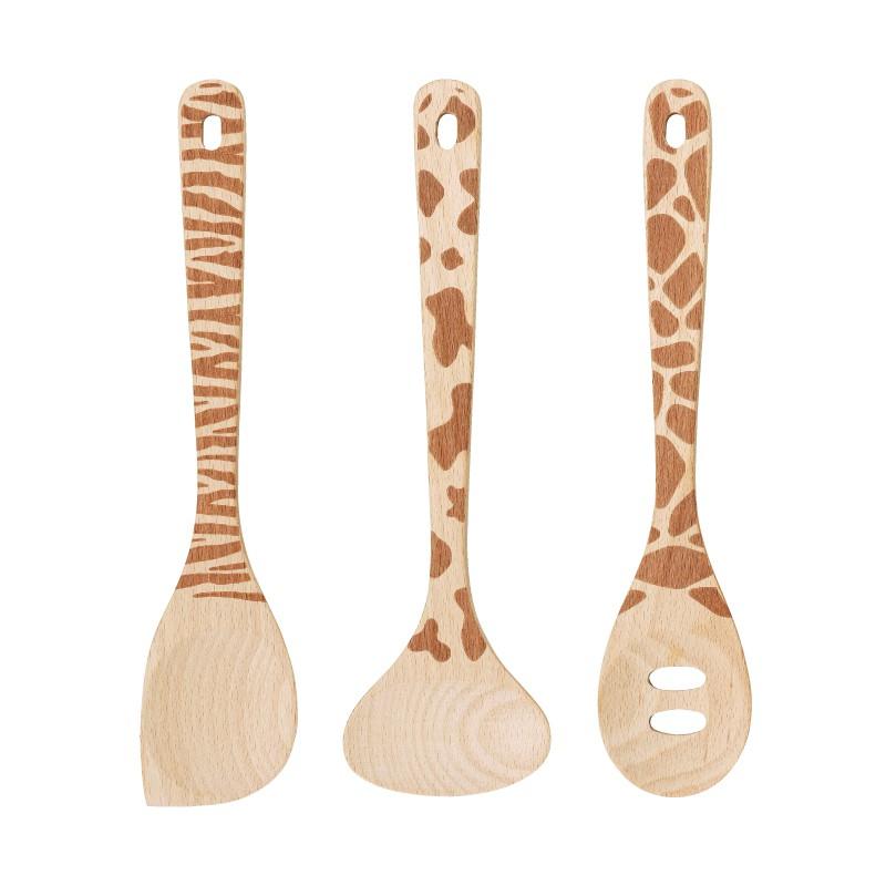 SALUS 動物系列-木頭鍋鏟/扁湯勺/濾油鍋鏟