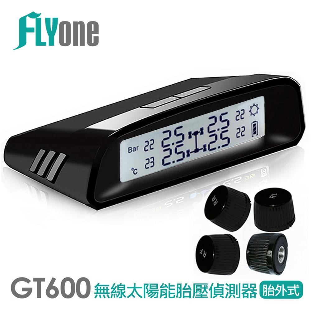 FLYone GT600 胎壓偵測器 無線太陽能TPMS 胎外式【FLYone泓愷】