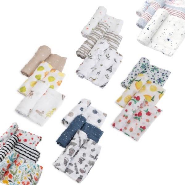 Little Unicorn純棉紗布巾三入組 嬰兒包巾