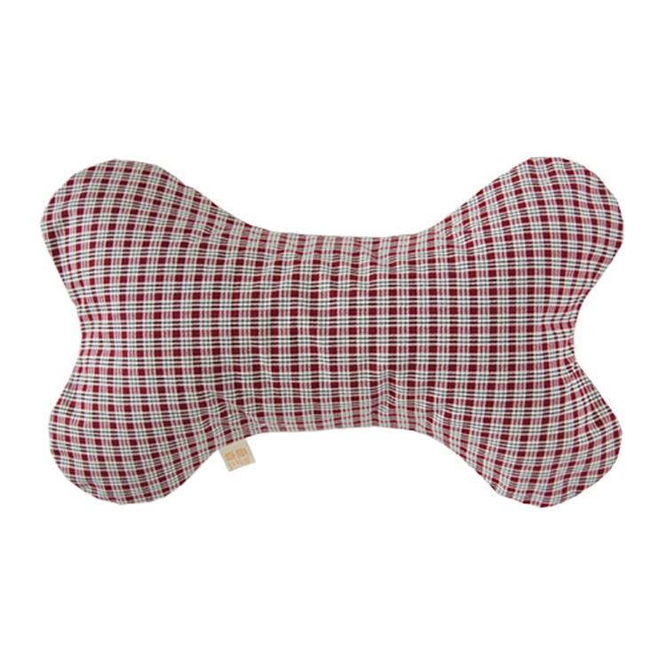 [花草巫婆]紅英格紋 茶香枕/午安枕/骨頭枕/孩童枕頭