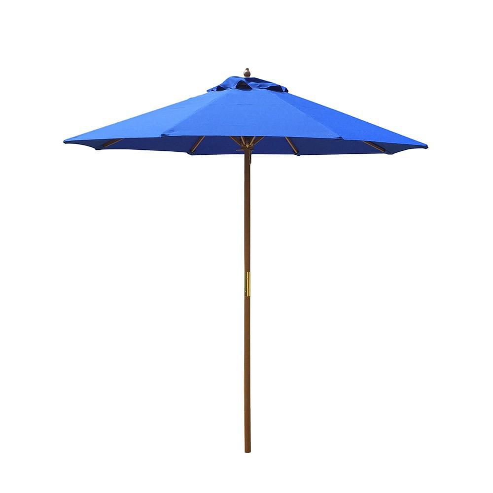 特力屋 耐候型7尺竹傘-藍