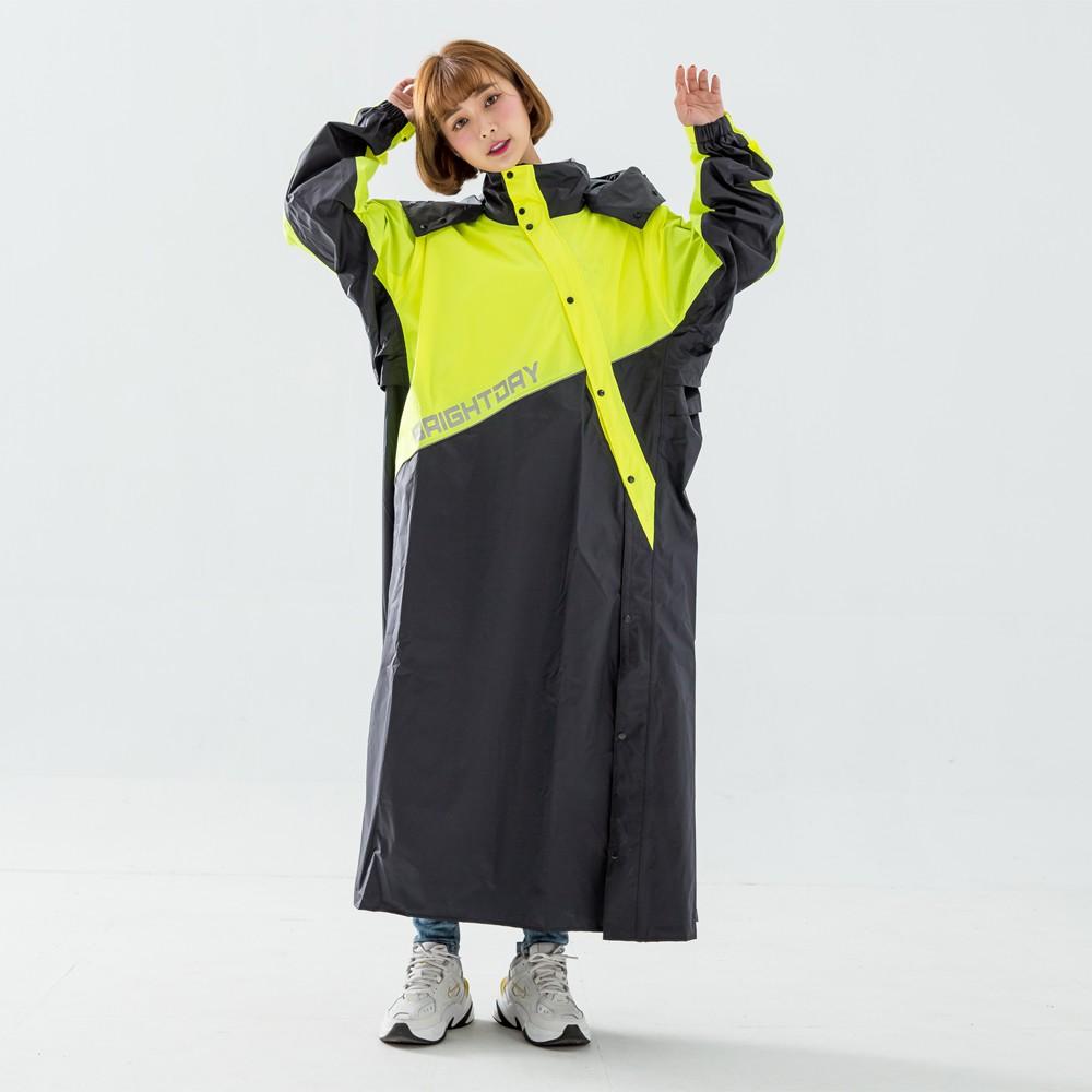 Outperform 奧德蒙 終結者斜開專利連身式 黑螢光黃 雨衣 連身雨衣 一件式  《比帽王》