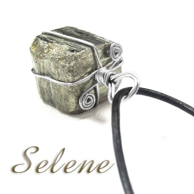 【Selene 珠寶】廣招四方財黃鐵礦墜(開運能量寶石)