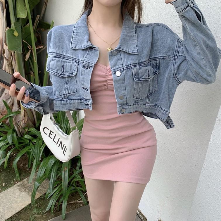 IELGY 粉色抹胸吊帶洋裝女裝夏季2021年新款修身包臀短裙收腰顯瘦裙