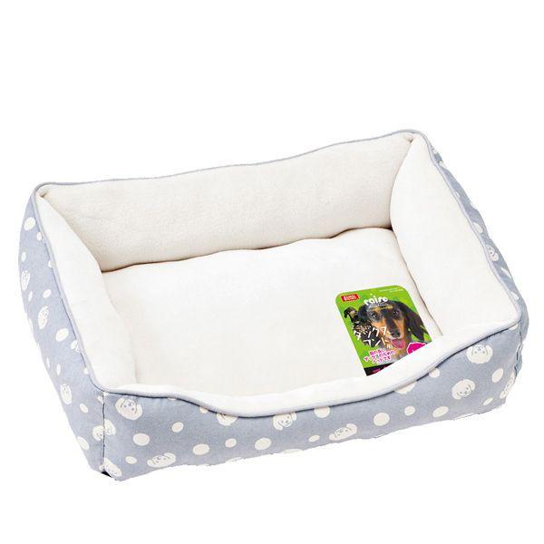 日本 Marukan 法蘭絨方型睡床原創貴賓印花圓點 DP-397