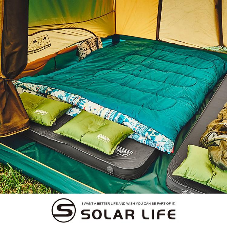 Coleman CM露營者雙人自動充氣氣墊床CM-36154 自動充氣睡墊 雙人露營充氣床墊 防潮帳篷睡墊 加厚10cm