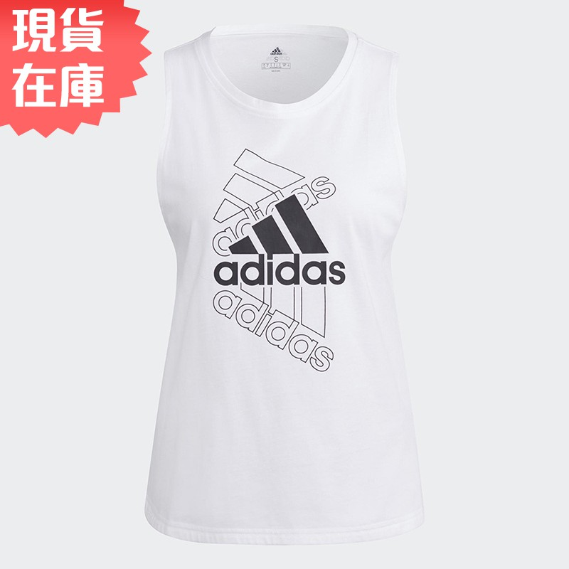 Adidas ESSENTIALS 女裝 背心 訓練 健身 寬鬆 棉 白【運動世界】GL1401