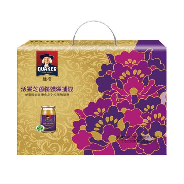 桂格 活靈芝菌絲體滋補液禮盒(8瓶/單盒)【杏一】