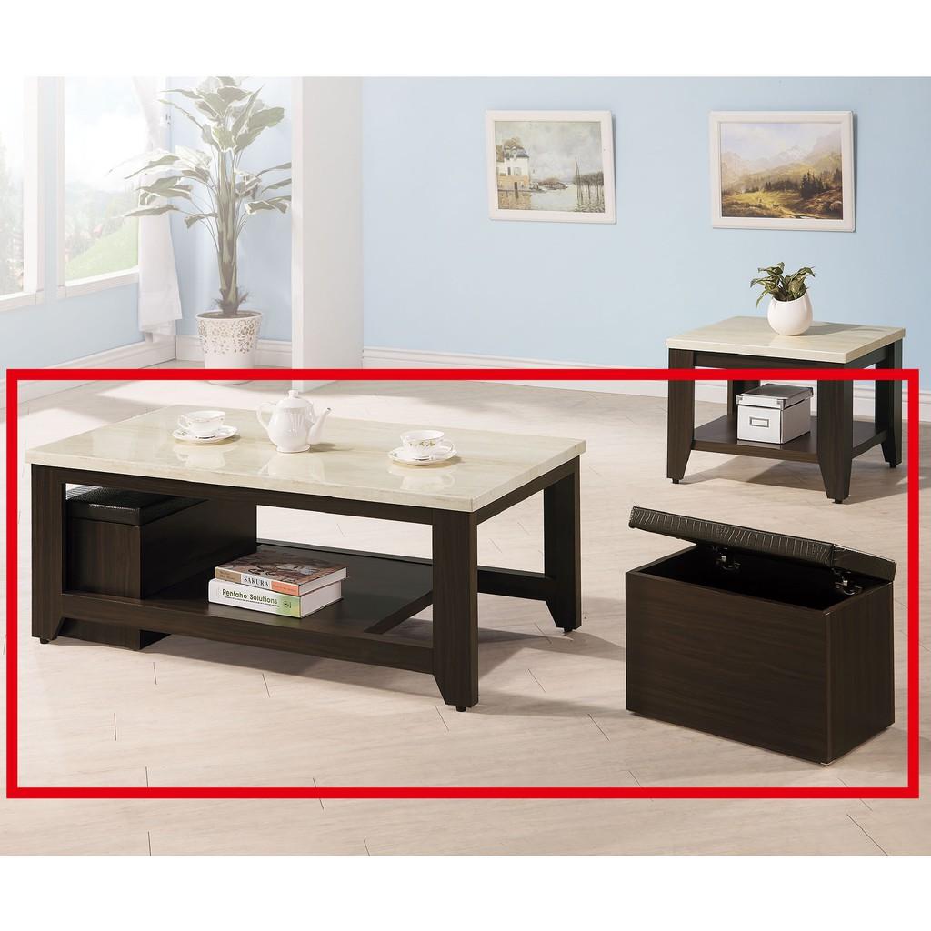 【121cm仿石面大茶几-C678-1】實木原木玻璃 大理石長方桌 大小邊几 圓桌  【金滿屋】