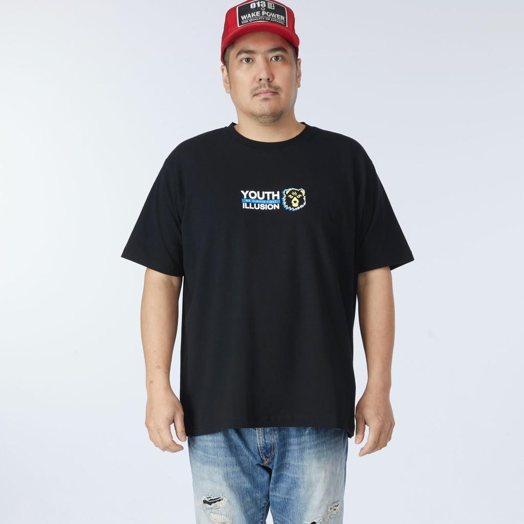 神德SIND/BearNation 男生大小尺碼胸口幻視印花T恤- 黑[M22611]
