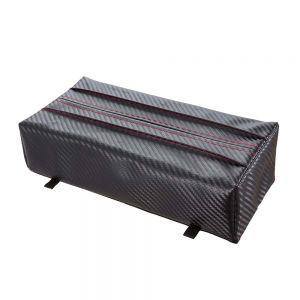 車之嚴選 cars_go 汽車用品【Fizz-1017】NAPOLEX 多功能碳纖紋皮質 4種位置安裝變化 面紙盒套